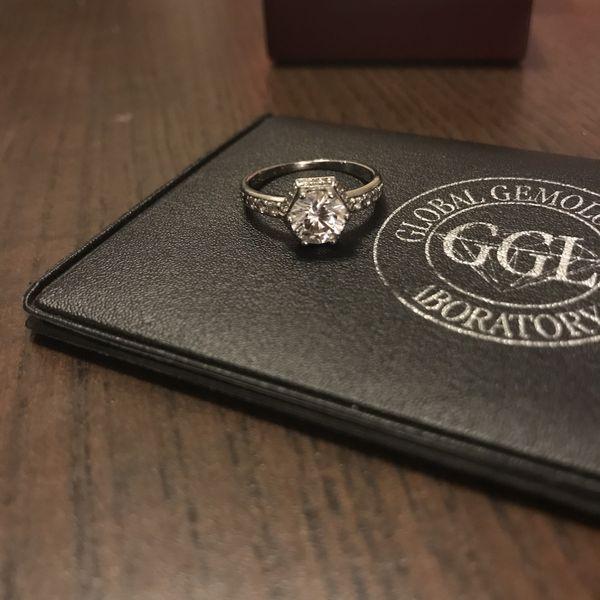 1 Ct. Diamond Simulant engagement ring