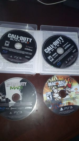 Selling my PS3 with 4 games $80 of dlc maps. Cord controller for Sale in Houston, TX