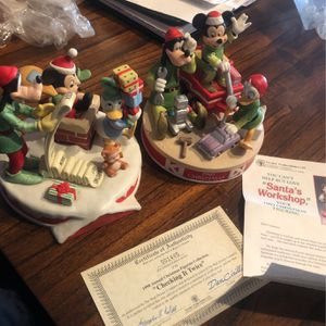 Vintage Disney Christmas Figurines for Sale in Chicago, IL