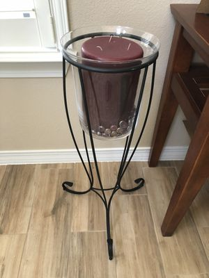 Party Lite Mulberry 3 Wick Candle and Candle Holder for Sale in Albuquerque, NM