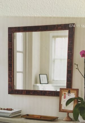 Threshold wall mirror wood antique coffee finish for Sale in Covina, CA