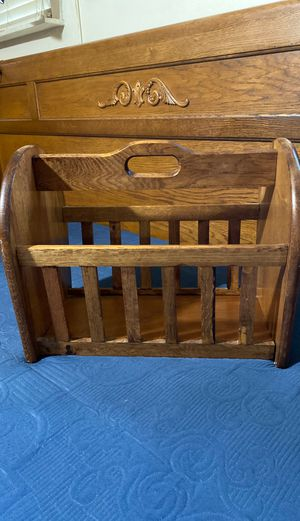 Solid wood magazine rack for Sale in Houston, TX