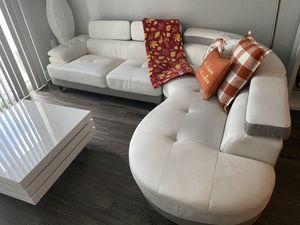 Rotating Coffee Table , Bar , Couch & two bookshelves & TV stand for $800 [Gently Used ] Willing to Negotiate for Sale in Tamarac, FL
