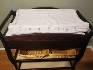Changing table with baskets for Sale in Sachse, TX