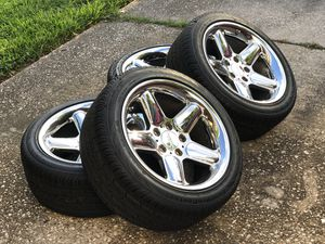 BMW 17x8.5 17 Inch Squared Ronal AC Schnitzer type II Monoblock Forged wheels and tires set for Sale in Houston, TX