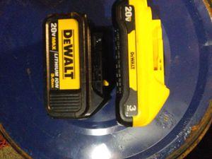Dewalt 20v xrp 3hr batterys for Sale in Nitro, WV