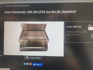 Used Glastender IBA-30 ice bin beer cooler without the speed rail for Sale in Saint Francisville, LA
