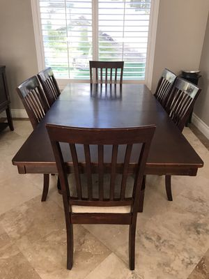 Dining table and six chairs for Sale in Corona, CA