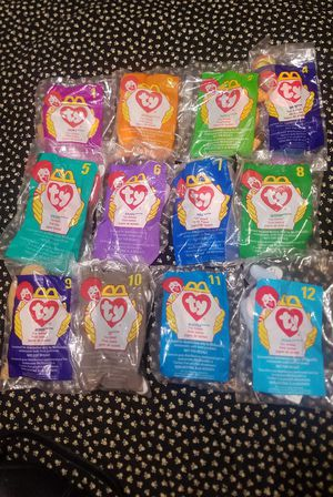1998 McDonald's Ty Beanie Babies Full Set of Happy Meals Toys for Sale in Phoenix, AZ