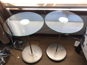 Kasala end tables umbra chrome and glass for Sale in Seattle, WA