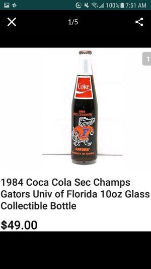 FLORIDA GATORS Collectable Coca Cola Glass Bottle for Sale in Orange Park, FL