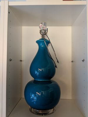 Emilia ceramic lamp w shade - 2 color options for Sale in Newton, MA