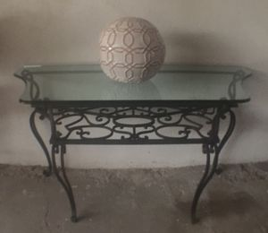 Nice heavy metal console table for Sale in Las Vegas, NV