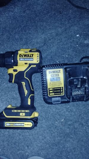 DeWalt 20 volt brushless drill when battery and charger for Sale in San Antonio, TX
