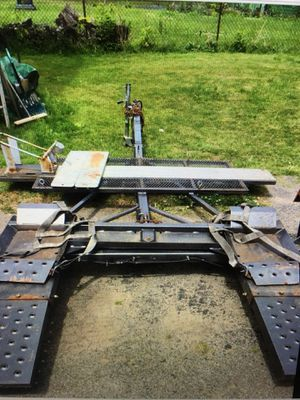 Car and motorcycle bike tow dolly&cycle ramp ramps heavy duty custom made for Sale in Rochester, NY