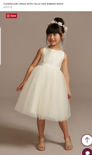 David's Bridal flower girl dress size 5 for Sale in Tracy, CA