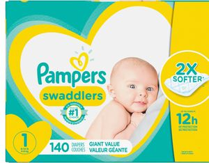 2 boxes Pampers swaddlers size newborn 140 count each box for Sale in Waterbury, CT
