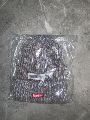 Supreme Rainbow Knit Loose Gauge Beanie Light Blue for Sale in Hollywood, FL