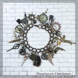 Charm Bracelet Steampunk Handmade for Sale in Lake Oswego, OR