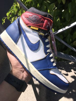 Jordan 1 Union Blue and supreme and bape and Off white and palace and Nike and adidas and vlone and cdg and fear of god for Sale in Los Angeles, CA