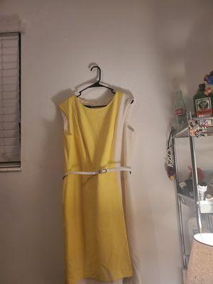 Vintage type like new yellow & white AB studio summer dress for Sale in Salt Lake City, UT