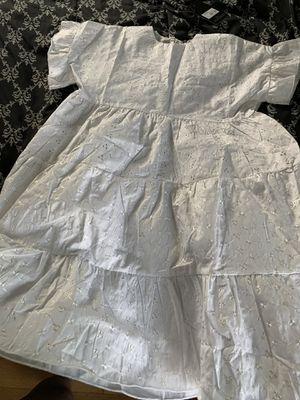 PRETTYLITTLETHINGS WHITE SMOCK DRESS for Sale in Hammonton, NJ