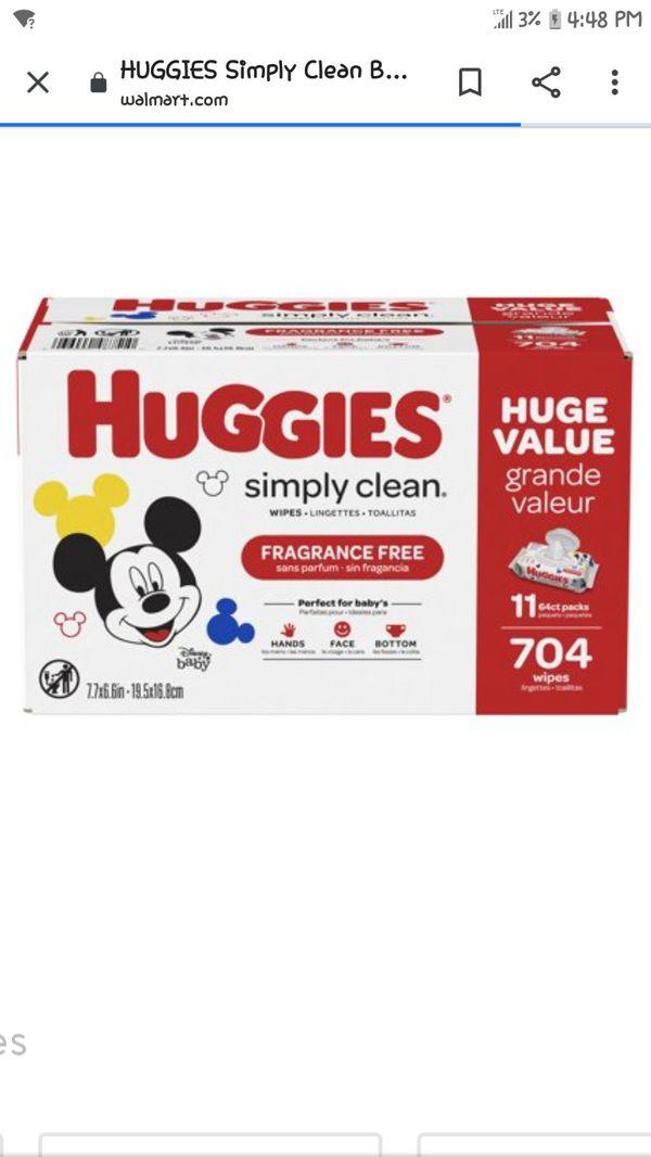 I have a box of 6 huggies wipes , i used one but my daughter was allergic ,tengo esta caja de huggies 6 packetes pero use una y mi hija la roso