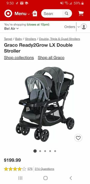 Graco ready2grow click connect double stroller for Sale in Darlington, MD