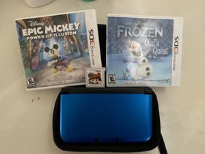 Nintendo 3DS xl With three games and case for Sale in Moreno Valley, CA