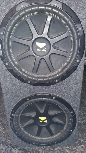Two 12s kicker comps and a 1200 w amp for Sale in Stockton, CA