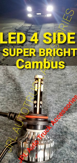 LED LIGHT LED HEADLIGHT FOG LIGHTS DAYTIME RUNNING LIGHTS HID LIGHTS HID HEADLIGHTS BULBS $32 PAIR 4 Side Super Brights CAMBUS for Sale in Santa Ana, CA