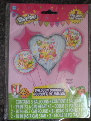 Shopkins balloon bouquet 10$ brand New for Sale in Virginia Beach, VA