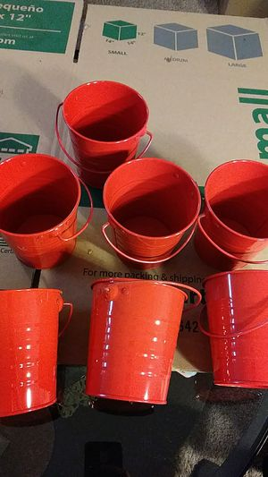 7 small red buckets for Sale in Blacklick, OH