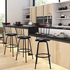 🔥Brand new item! Set of 3 Steel Frame PU Leather Swivel Bar Stools for Sale in Los Angeles, CA