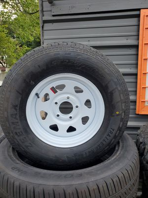 205/75/15 NEW TRAILER TIRE AND WHEEL FOR 135 DOLLARS EACH for Sale in Houston, TX