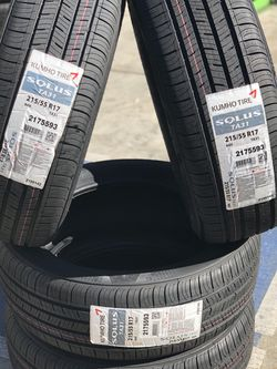 215/55/17 KUMHO New Tires Llantas Nuevas 17 Price includes installation and balance for Sale in Norwalk,  CA