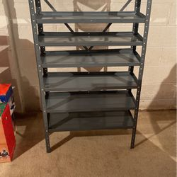 Metal Storage shelf 39.5w x 11.5d 59.5h Inches for Sale in Rochester Hills,  MI