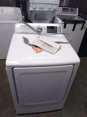 Samsung dryer works great heavy duty 1yr warranty for Sale in Capitol Heights, MD
