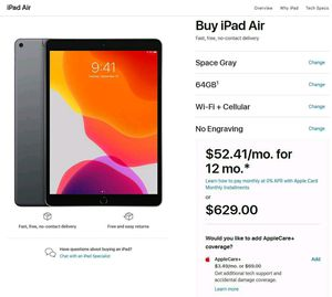 Ipad air 3 newest model 64gb cellular unlocked for Sale in Vancouver, WA