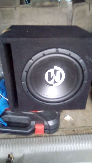 "12"" subwoofer with box memphis subwoofer for Sale in San Bruno, CA"