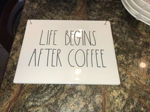Rae Dunn Life Begins After Coffee Sign for Sale in Sanger, CA