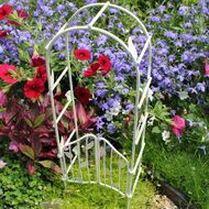 New Miniature Arbor With Doors - Available in Creme & Green for Sale in Colorado Springs, CO