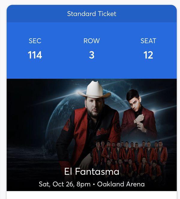 El Fantasma tickets Oracle Arena