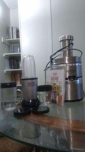 LIKE NEW Condition 🔥🔥 - Kitchen Bundle: Juicer Pro / Magic Bullet Blender for Sale in Las Vegas, NV