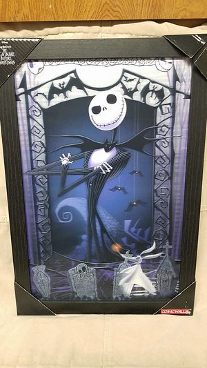 Nightmare before Christmas jack skellington 3D wall art! for Sale in Reedley, CA