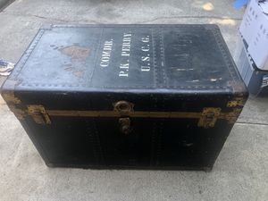 Vintage Trunk Chest Navy Commander Nautical for Sale in Sunland-Tujunga, CA