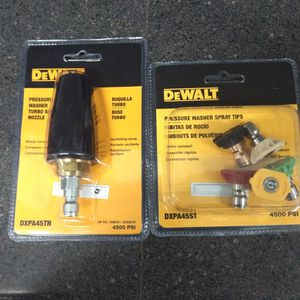Brand New Dewalt Pressure Washer Turbo Spray Nozzle And Pressure Washer Spray Tips $50 Firm If Add Is Up But Still Available for Sale in Seattle, WA