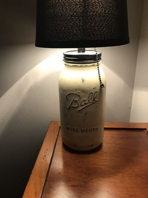 Hand crafted mason jar lamp. for Sale in Lancaster, OH
