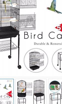 """New Zeny 59.3"""" Bird Cage for Cockatiel Parakeet Medium Pet Bird Cage W/Rolling Stand for Sale in Avocado Heights,  CA"""