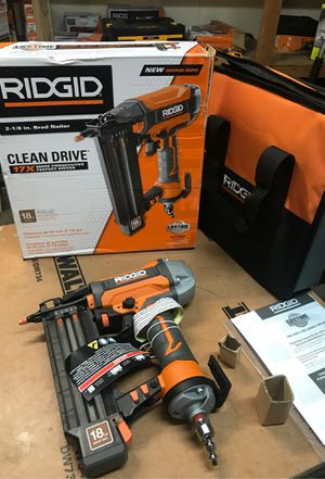 RIDGID 18-Gauge 2-1/8 in. Brad Nailer with CLEAN DRIVE Technology, Tool Bag, for Sale in Fontana, CA